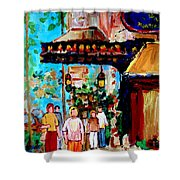 The Ritz Carlton In Spring Shower Curtain