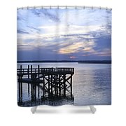 The River At Dusk Shower Curtain