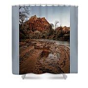 The River Beach Shower Curtain