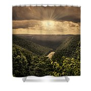 The River Below Shower Curtain
