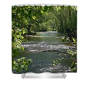 The River In Spring Shower Curtain