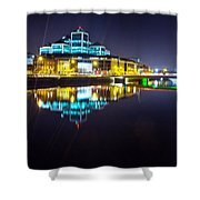 The River Liffey Night Romance 2 Shower Curtain