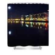 The River Liffey Night Romance Shower Curtain