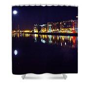 The River Liffey Night Romance V2 Shower Curtain