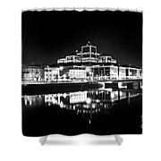 The River Liffey Reflections 2 Bw Shower Curtain