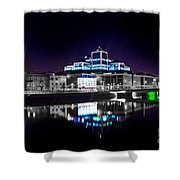 The River Liffey Reflections 2 V2 Shower Curtain