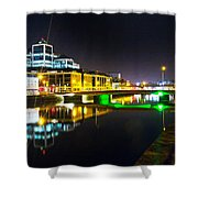 The River Liffey Reflections 3 Shower Curtain