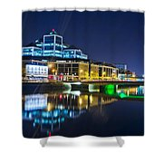 The River Liffey Reflections 4 Shower Curtain