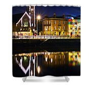 The River Liffey Reflections Shower Curtain