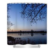 The River Nogat Shower Curtain