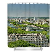The River Of Paris Shower Curtain