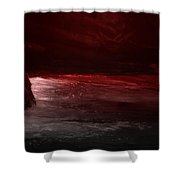 The River Runs Red Shower Curtain