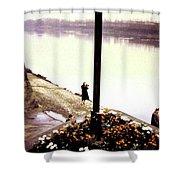 The River Seine 1955 Shower Curtain