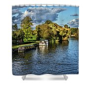The River Thames At Wallingford Shower Curtain