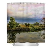 The Riverbank  Shower Curtain