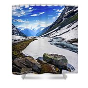 The Road And The Stream Shower Curtain