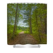 The Road Goes Ever On And On Shower Curtain