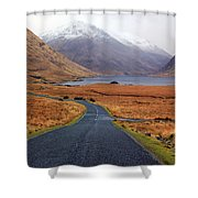 The Road In Shower Curtain