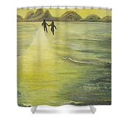 The Road In The Ocean Of Light Shower Curtain