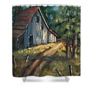 The Road Leads Home Shower Curtain