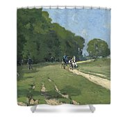 The Road Near The Park Of Courances Shower Curtain
