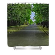 The Road On A Border Of Royal Park Shower Curtain