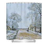 The Road, Snow Effect Shower Curtain