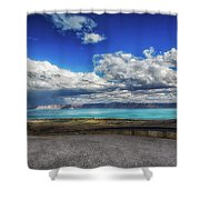 The Road To Bear Lake Shower Curtain