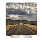 The Road To Death Valley Shower Curtain