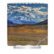 The Road To Denali Shower Curtain