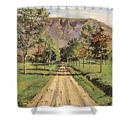 The Road To Evordes Shower Curtain