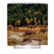 The Road To Fall Shower Curtain