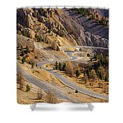 The Road To Izoard Pass - 2 - French Alps Shower Curtain