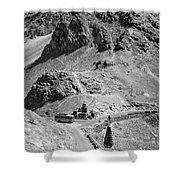 The Road To Ladakh Bw Shower Curtain