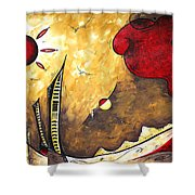 The Road To Life Original Madart Painting Shower Curtain by Megan Duncanson