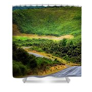 The Road To Milford Sound Shower Curtain