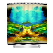 The Road To Paradise Shower Curtain