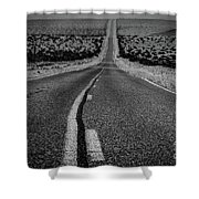 The Road To Shoshone Shower Curtain
