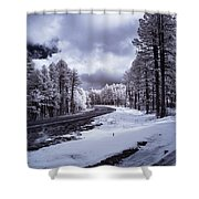 The Road To Snow Shower Curtain