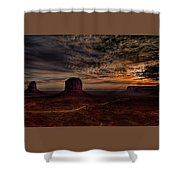 The Road To Sunrise Shower Curtain