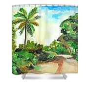 The Road To Tiwi Shower Curtain