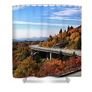 The Road To Winter Shower Curtain