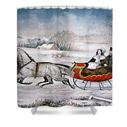 The Road-winter, 1853 Shower Curtain