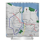 The Rochester Pubway Map Shower Curtain