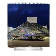 The Rock And Roll Hall Of Fame At Dusk Shower Curtain
