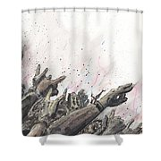 The Rock Show Shower Curtain