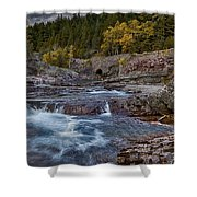 The Rock Wall Shower Curtain