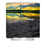 The Rockies Reflected At Lake Annettee Shower Curtain