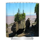 The Rocks At Hopewell Cape Shower Curtain