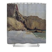 The Rocks At Vallieres Shower Curtain